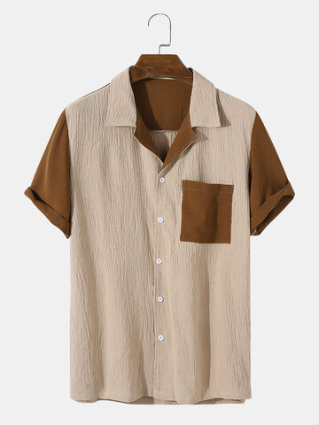Crease Two Tone Revere Shirts