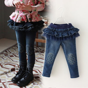 Princess Girls Skirt Jeans Para 3Y-13Y
