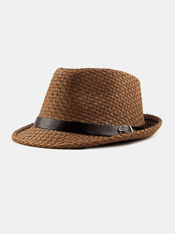 Straw Weave Mesh Breathable Jazz Hat