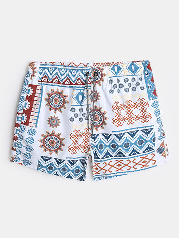 Tribal Pattern Liner Board Shorts