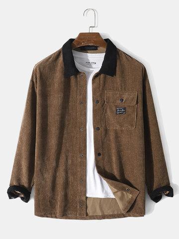 Corduroy Flap Pocket Shirt Jacket