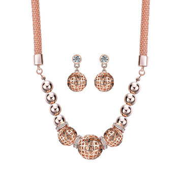 Luxury Rose Gold Jewelry Set