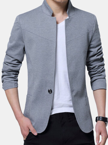 Stylish Slim Fit Coat Jacket, Grey blue black red