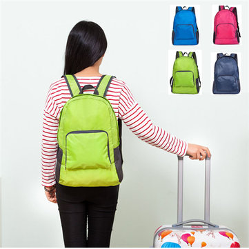 Nylon Mochila plegable Ligera Casual Sports Travel Shoulder Bolsa