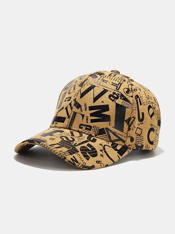 Men Cotton Graffiti Fashion Sunshade Baseball Hat