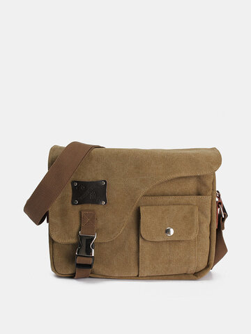 Vintage Messenger Bag Canvas Crossbody Bag Shoulder Bag