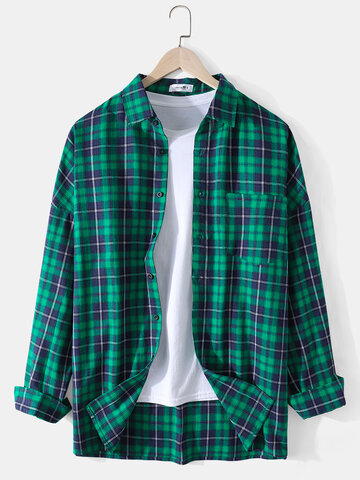 Cotton Plaid Print Shirts