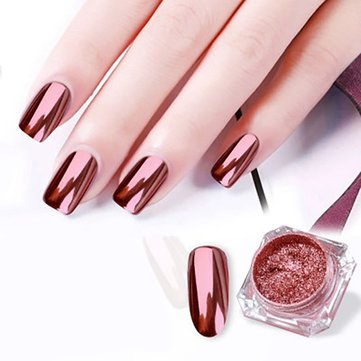 Rose Gold Mirror Nail Powder
