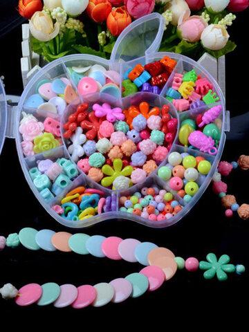 Children's Educational DIY Apple Box Handmade String Beads Jewelry