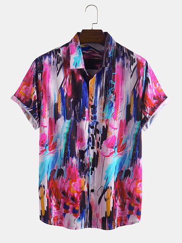 Multi Color Graffiti Designer Shirts