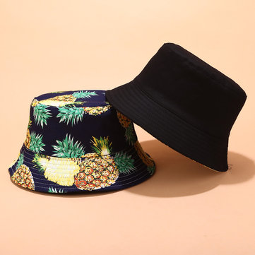 Women & Men Fruit Print Bucket Hat