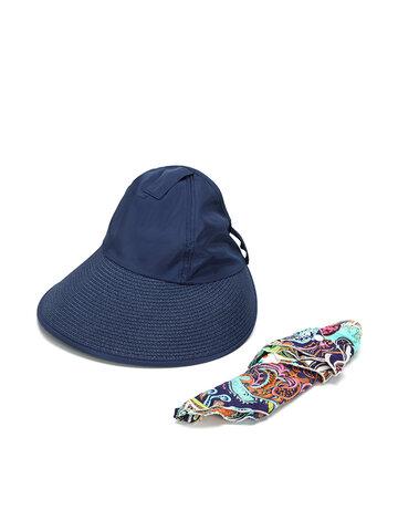 Women Summer Outdoor Sun Protective Gardening Hat Anti-UV Wide Brim Visor Sun Cap
