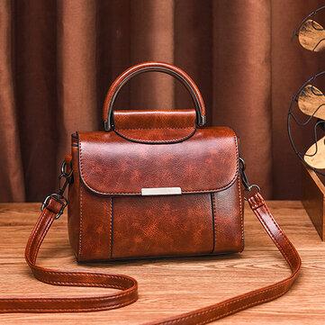 Women Faux Leather Vintage Handbag Shoulder Bag