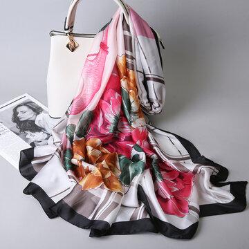 Soft Übergroßer Schal aus Seidenschal