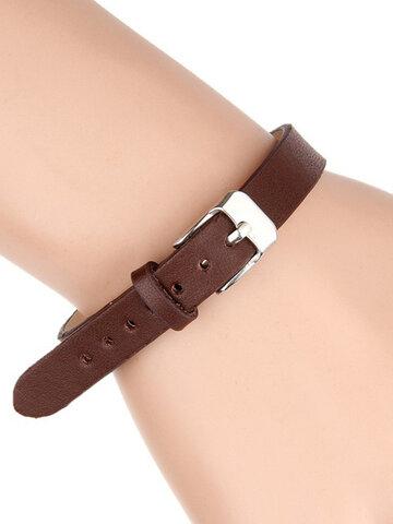 Bracelets de manchette en cuir de mode