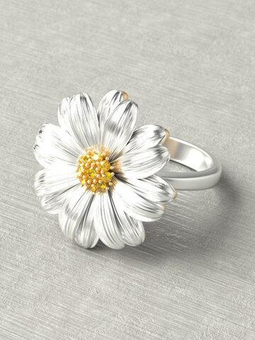 Small Daisy Flower Women Rings