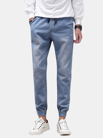 Bequeme stilvolle Denim Retro Washed Jeans