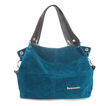 Women Solid Flannel Leisure Tote