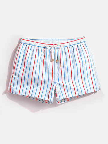 Polyester Cactus Hand Drawn Pattern Board Shorts with Pockets Youth Casual Swim Trunks