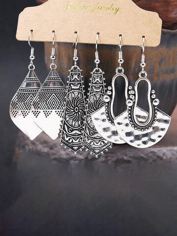 3 Pcs Geometric Wings Earrings Set