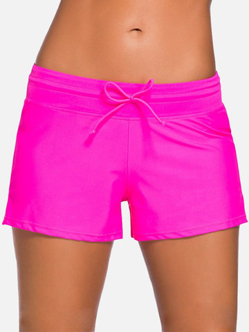 Plus Size Drawstring Shorts Swimming Panty