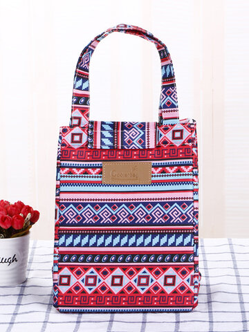 Oxford Retro Waterproof Lunch Picnic Tote Bag Cooler Insulated Summer Beach Storage Containers