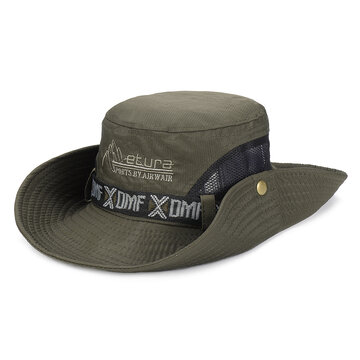 Foldable Breathable Fisherman Hat, Khaki army green green gray white