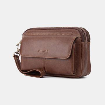 Men Casual Clutch Bag Genuine Leather Bag