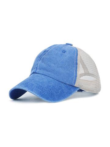 ريترو غسل القماش اللون قبعة بيسبول الصلبة اللون تنفس