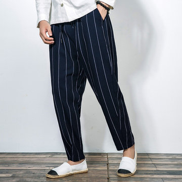 Striped Printed Baggy Loose Harem Pants