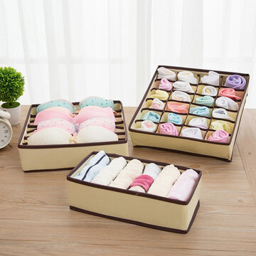 3Pcs Non-woven Underwear Storage Box
