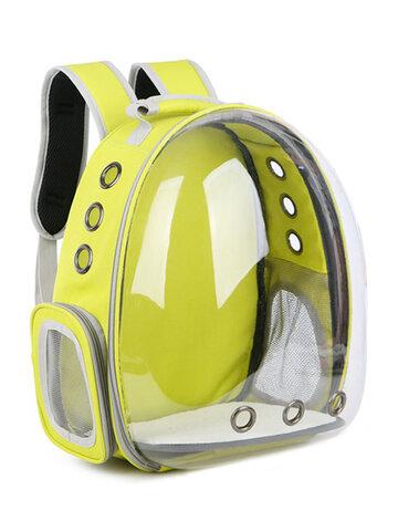 3 Colors Breathable Transparent Pet Dog Cat Travel Backpack