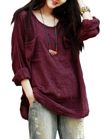 Pure Color Loose Shirt