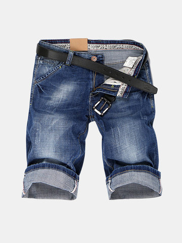 30-40 Stitching Short Jeans