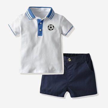 Boy's Football Print Sport Suit For 1-8Y