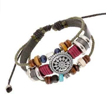 Vintage Leather Multilayer Bracelet