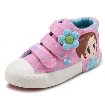 Girls Canvas Cartoon Lovely Casual Shoes