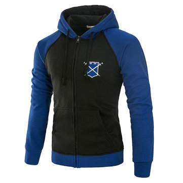 Stitching Color Casual Sport Hoodies