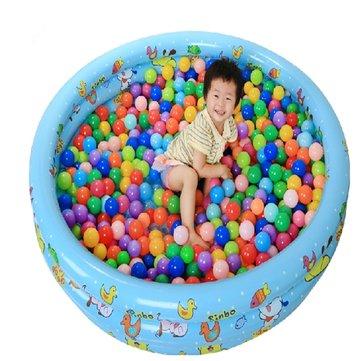 20 पीसी रंगीन प्लास्टिक महासागर बॉल बेबी बच्चों के खिलौने तैरना पिट