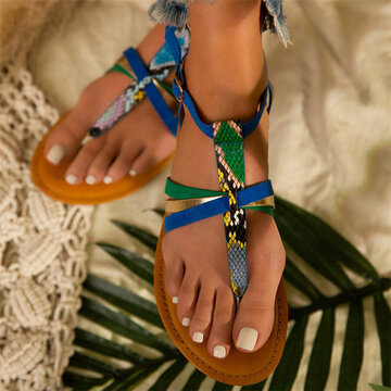 Comfy Buckle Strap Clip Toe Beach Sandals