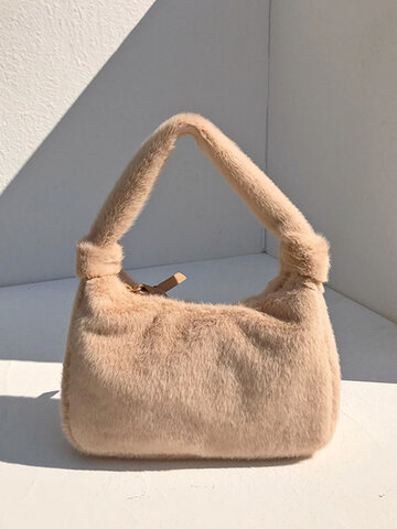 Comfy Plush Bag Handbag Shoulder Bag