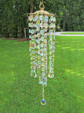 1 STÜCK Künstliche Hängende Kristallglas Exquisite Colorful Windspiele Möbel Garten Dekoration Home