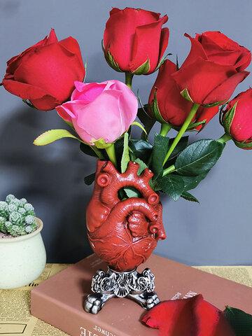 Anatomique coeur Vase Pot de fleur moderne bureau ornement étagère nouveauté fleur Vase salon chambre bureau décorations