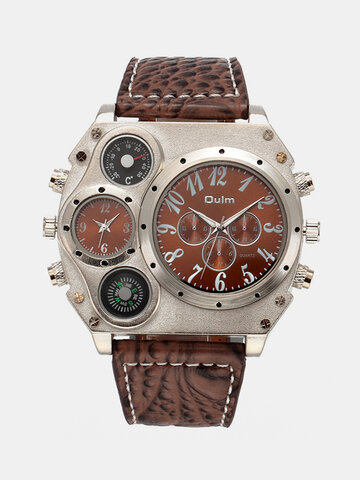 Leather Men Military Watch