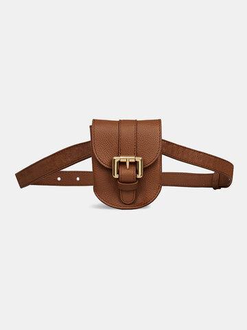 レトロストラップレースレザーバッグベルトOneショルダーバッグ財布ウエストバッグ