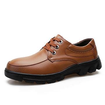Chaussures de travail en cuir véritable pour hommes de grande taille