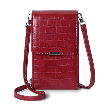 Donne Alligator Modello Telefono Borsa Flap Solid Crossbody Borsa