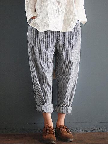 Pantaloni larghi a righe