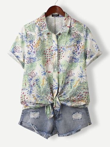 Calico Print Short Sleeve Shirt