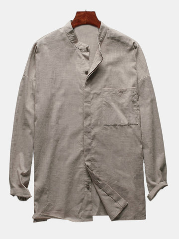 M-4XL Linen Loose Retro Shirt